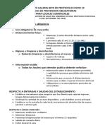 INFORMATIVO DE PROTOCOLO COVID 19