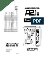 Manual Zoom Acoustic P_A21u