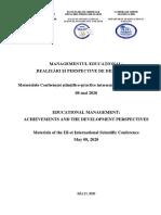 Conf Managementul Educational 2020