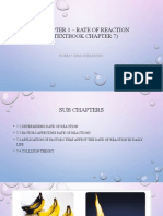 Chapter 1 - Rate of Reaction