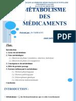 metabolisme des médicaments