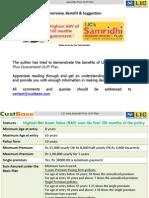 Licindia Samridhi Plus Ulip Guaranteed