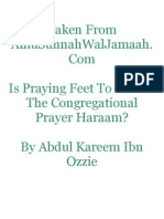 Is Placing The Feet Together In The Congregational Prayer Halaal Or Haraam