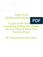 Placing The Hands Below The Navel And On The Chest In Prayer