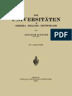 Abraham Flexner (Auth.) - Die Universitäten in Amerika · England · Deutschland-Springer-Verlag Berlin Heidelberg (1932)