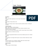 Plano Alimentar Vegan - exemplo