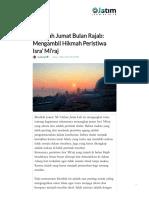 Khutbah Jumat Bulan Rajab_ Mengambil Hikmah Peristiwa Isra' Mi'raj