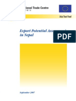 Export Potential Assessment in Nepal (2007)
