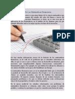 Reseña Historica de La Matemática Financiera