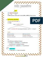 Cours - Français La Voix Passive - 9ème (2011-2012) Elève Farah