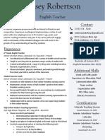 kelsey robertson - teaching resume