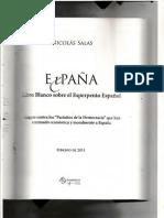 Libro EXPAÑA-primeras páginas, incluye dedicatoria y  reseña final del autor