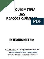 Estequiometria das Reações Químicas