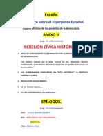 Libro Expaña, Relación de contenidos Anexo II y Epílogos-v