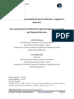 7. La mesure du Capital Immatériel dans la littérature comptable et financière (1)