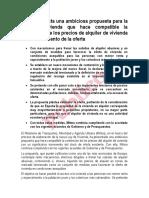 Propuesta Mitma Ley Vivienda