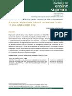 Docencia Universitaria durante la pandemia COVID-19 una mirada desde Chile (Felipe Zurita)