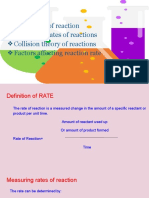 RATE OF REACTION_