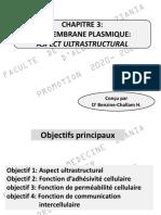 Chapitre 3 Membrane Plasmique Aspect Utrastructural 2020 2021 Envoye