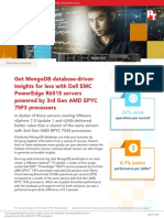 Get MongoDB database-driven insights for less with Dell EMC PowerEdge R6515 servers powered by 3rd Gen AMD EPYC 75F3 processors - Summary