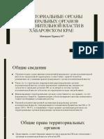 Территориальные органы федеральных органов исполнительной власти в хабаровском