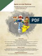 Pokemon 5e PHB Gen I - VII