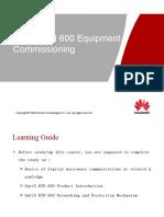 OptiX RTN 600 Equipment Commissioning