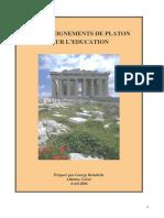 Les Enseignements de Platon - Texte