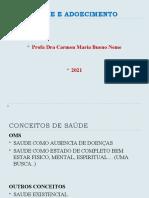 CONSIDERAÇÕES SOBRE O CONCEITO DE SAÚDE - SAÚDE E ADOECIMENTO-2008 (2)
