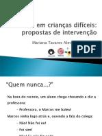 conflitos crianças dificeis (Mariana Tavares)