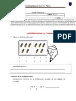 Guía de matemáticas 3 Propiedades de la multiplicacón