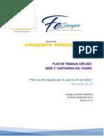 plan y presupuesto 2021 sede 3 cartagena-Fe, Siempre avivamiento profundo
