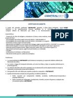 4644003309 Certificado Opnet Fibra Óptica