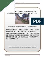 PERFIL TECNICO CP MIRAFLORES - SANTO DOMINGO DE LA CAPILLA