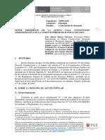 Contestación de demanda. Expediente N° 16090-2019