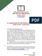 Esportazioni Di Armi Italiane Nel 2009