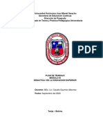PLAN DE TRABAJO MODULO III DIDACTICA I