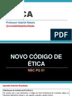 Slides - Novo Código Ética