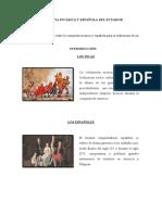 CONQUISTA INCÁSICA Y ESPAÑOLA DEL ECUADOR