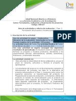 Guía de actividades y rúbrica de evaluación - Unidad 1 - Fase 2 - Formulación de un proyecto o iniciativa productiva