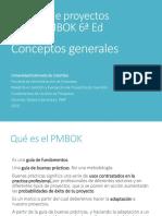 PMBOK 6 - Conceptos
