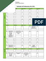 Calendario de Evaluaciones Josselin Troncoso 2020