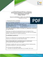 Guía de actividades y Rúbrica de evaluación - Unidad 3 - Tarea 3 - Endocría y Exocría