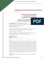 Modelos Teóricos de Gestión Del Conocimiento_ Descriptores, Conceptualizaciones y Enfoques