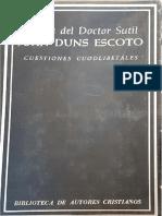 Duns Scoto - Cuestiones Cuodlibetales-Biblioteca de Autores Cristianos (1968)