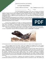 Atividades Quarentena Março 2021 Ciências Naturais