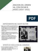 RESTAURACION DEL ORDEN SOCIAL CON OSCAR R. BENAVIDES