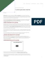 Como configurar HTTP custom para tener internet en Android
