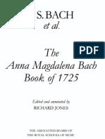 The Anna Magdalena Bach - Book of 1725 (sheet music)