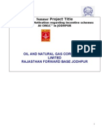 Employee Motivation regarding incentive schemes at ONGC Project Report